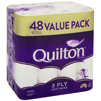 Quilton 3 Ply Toilet Tissue 48 Pack
