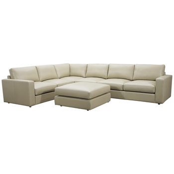 Moran Park Modular Beige Leather Sofa