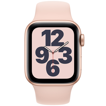 Apple Watch SE (GPS) 40mm Gold Aluminium Case with Pink Sand Sport Band MYDN2X/A