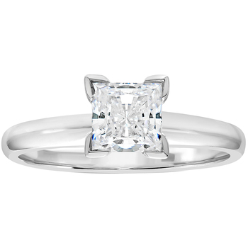 Princess 1.00ctw 18KT White Gold Diamond Solitaire Ring
