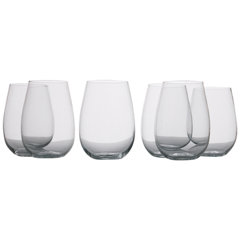 Maxwell & Williams Mansion Stemless Wine Glasses 6pc