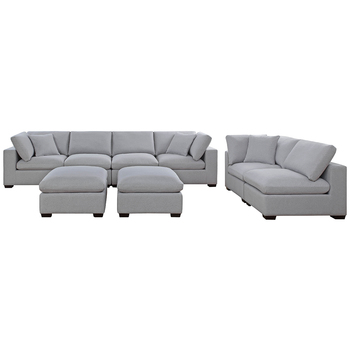 Thomasville Fabric Modular Sectional 8pc