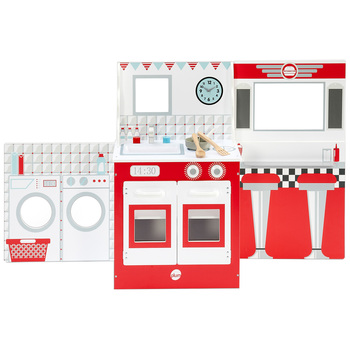 Plum Play 3-in-1 Wooden Cabin Kitchen Set