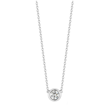 Round Brilliant 0.50ctw 18KT White Gold Diamond Pendant