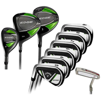 Callaway Men's Left Hand Golf Club 10pc Steel Shaft Irons and Graphite Woods
