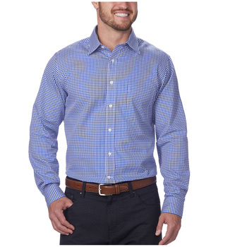 Kirkland Signature Men's Long Sleeve Dress Shirt Blue