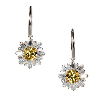 Swarovski Sunshine Pierced Earrings Yellow