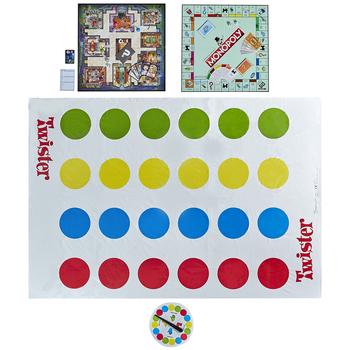 Hasbro Classic Family Game Set: Monopoly, Clue & Twister