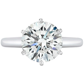 Platinum Round Brilliant 10.03ctw Diamond Solitaire Ring