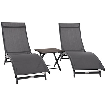 Vivere Coral Springs Chaise Lounge & Table Set