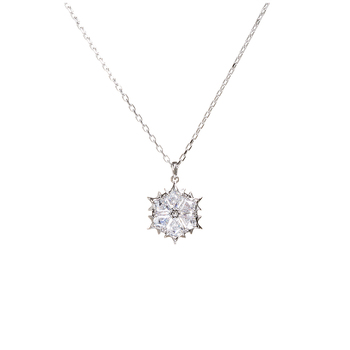 Swarovski Rhodium Plated White Magic Pendant