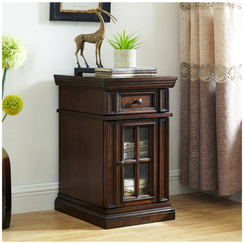 Well Universal Dudley Chairside Table Brown