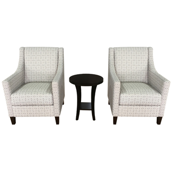Thomasville Fabric Accent Chair & Table 3pc