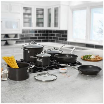 Kirkland Signature Hard Anodised Cookware Set 10pc