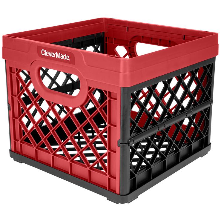 Clevermade Milk Crate Red 25l Costco Australia