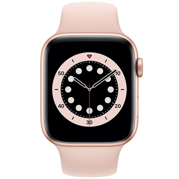 Apple Watch Series 6 (GPS) 44mm Gold Aluminium Case with Pink Sand Sport Band M00E3X/A