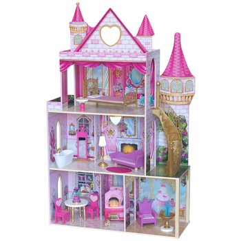 Kidkraft Rose Garden Castle Dollhouse with EZ Kraft Assembly