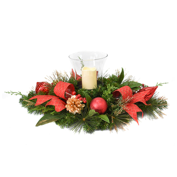 Christmas LED Red Candle Centrepiece 81.28cm